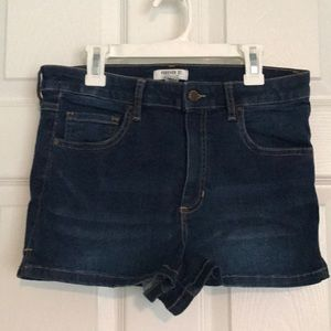 Forever 21 High-waisted distressed jean shorts